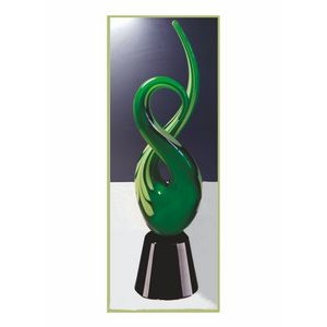 Free Form Green Crystal Art Award